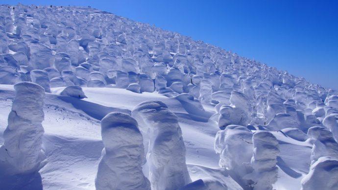 冬の風物詩「アイスモンスター」。年々減少!? 希少な自然現象、樹氷を見に行こう。