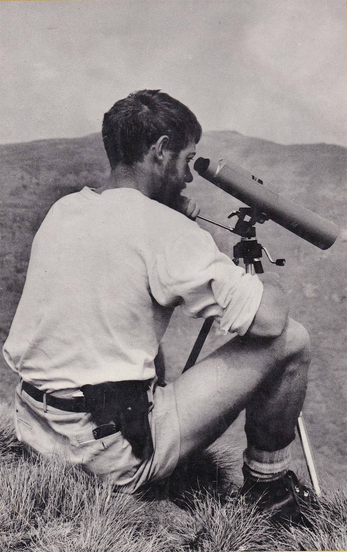 C.W.ニコルさんがエチオピアのシミエンをパトロール中 当時27歳
